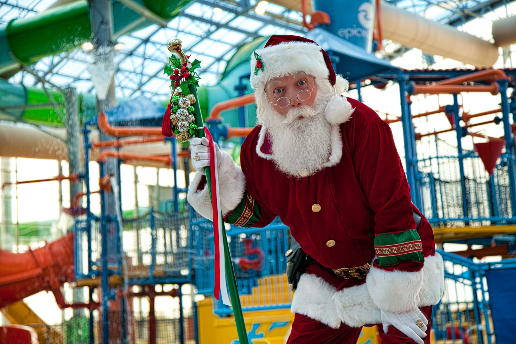 Santa Claus At Epic Waters
